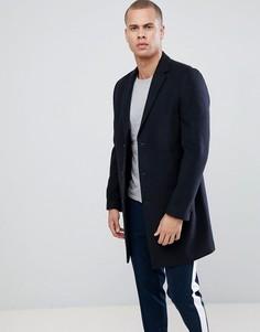 Темно-синее пальто New Look - Темно-синий