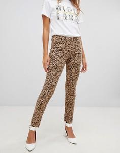 Джинсы с леопардовым принтом New Look - Коричневый