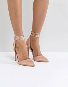 Туфли на высоком каблуке ASOS PIED PIPER - Бежевый