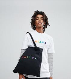 Черная сумка-тоут с вышивкой ASOS DESIGN x glaad - Черный