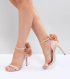 Босоножки на каблуке для широкой стопы ASOS DESIGN - Бежевый