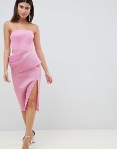 Сетчатое платье-футляр ASOS DESIGN - Розовый