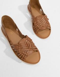 Кожаные сандалии ASOS DESIGN - Рыжий