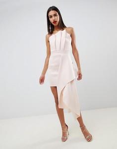 Премиум-платье мини с отворотом ASOS DESIGN - Розовый