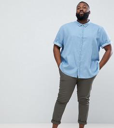 Джинсовая рубашка с короткими рукавами Jacamo - Синий