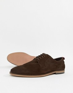 Коричневые замшевые туфли на шнуровке ASOS DESIGN - Коричневый