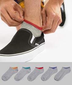 Набор из 5 пар спортивных носков ASOS - Серый