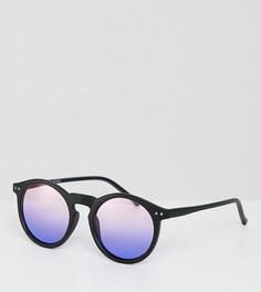 Очки в черной круглой оправе с фиолетовыми стеклами ASOS DESIGN - Черный