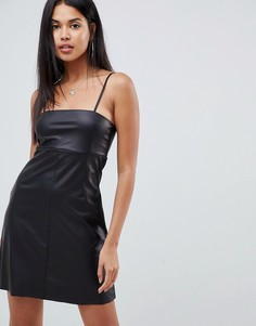Платье мини из искусственной кожи ASOS DESIGN - Черный