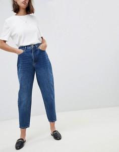 Темно-синие джинсы бойфренда ASOS DESIGN - Синий