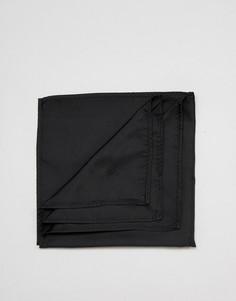 Черный платок для нагрудного кармана ASOS DESIGN - Черный