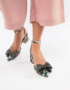 Туфли на среднем каблуке ASOS DESIGN Santino - Мульти