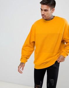 Oversize-свитшот желтого цвета со вставками ASOS DESIGN - Желтый