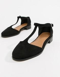 Туфли на плоской подошве ASOS DESIGN Mira - Черный