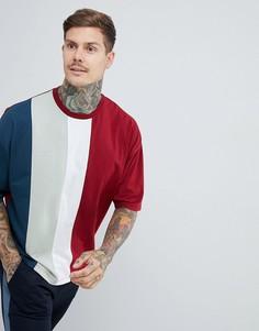 Oversize-футболка в стиле колор блок ASOS DESIGN - Красный