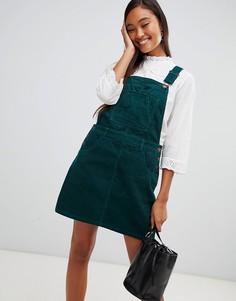 Зеленый вельветовый сарафан Miss Selfridge - Зеленый