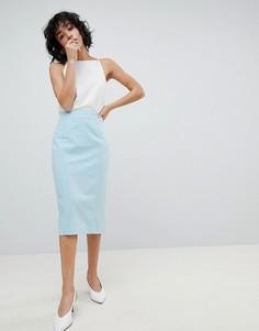 Комбинируемая юбка-карандаш ASOS DESIGN - Синий