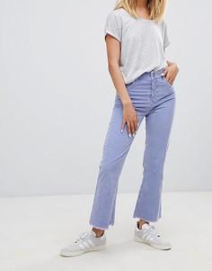 Укороченные пыльно-сиреневые расклешенные джинсы ASOS DESIGN - Фиолетовый