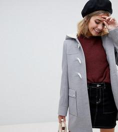 Классический дафлкот с карманами ASOS DESIGN - Серый