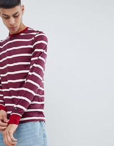 Красный лонгслив в полоску Nike SB 938020-618 - Красный
