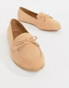 Туфли на плоской подошве ASOS DESIGN Mossy - Бежевый