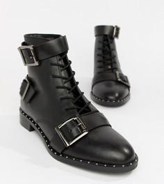 Кожаные ботинки на шнуровке ASOS DESIGN Arabelle - Черный