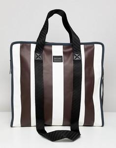 Белая сумка-шоппер в полоску ASOS DESIGN - Белый