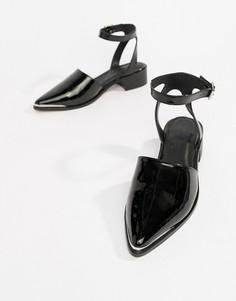 Туфли на плоской подошве с острым носом ASOS DESIGN Mamba - Черный