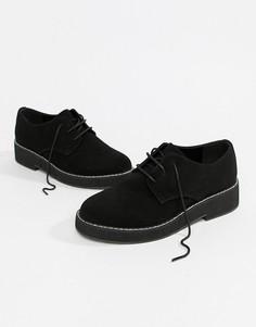 Туфли на плоской подошве со шнуровкой ASOS DESIGN Minus - Черный