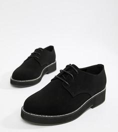 Туфли на плоской подошве для широкой стопы ASOS DESIGN Minus - Черный
