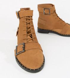 Замшевые ботинки на шнуровке ASOS DESIGN Arabelle - Рыжий