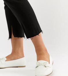Туфли для широкой стопы на плоской подошве ASOS DESIGN Mossy - Белый
