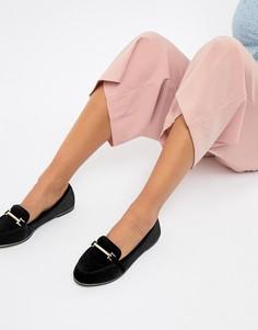Туфли на плоской подошве ASOS DESIGN Maderia - Черный