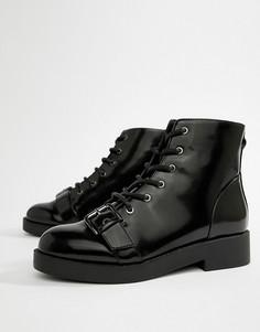 Массивные байкерские ботинки ASOS DESIGN - Черный