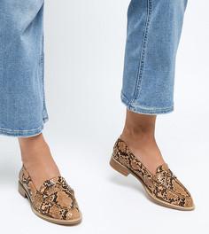 Туфли на плоской подошве для широкой стопы ASOS DESIGN - Мульти