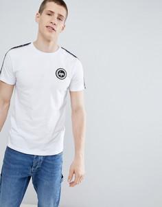 Белая футболка с полосками Hype - Белый