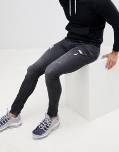 Черные рваные джинсы скинни Religion - Черный