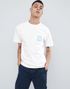 Белая футболка с карманом и принтом Primitive Skateboarding - Белый