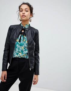 Куртка из искусственной кожи Vila - Черный