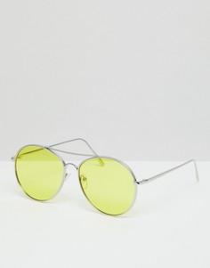 Желтые круглые солнцезащитные очки Jeepers Peepers - Желтый