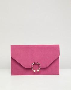 Клатч с искусственным жемчугом ASOS DESIGN - Розовый