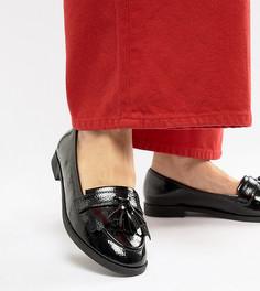 Туфли для широкой стопы на плоской подошве ASOS DESIGN Minkie - Черный
