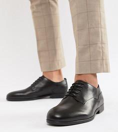 Черные кожаные строгие туфли для широкой стопы H By Hudson Axminster - Черный