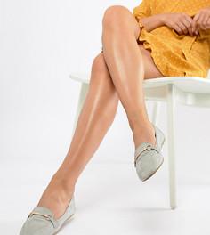 Серые туфли на плоской подошве для широкой стопы с отделкой RAID Viera - Серый