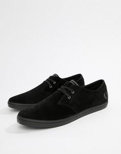 Черные замшевые туфли Fred Perry Byron - Черный