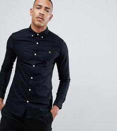 Черная оксфордская рубашка скинни Farah Sanfers - Черный