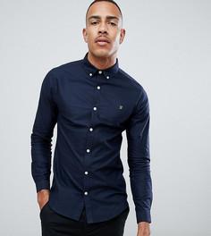 Темно-синяя оксфордская рубашка узкого кроя Farah Sanfers - Темно-синий