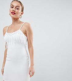 Белое платье мини Flounce London Petite - Белый