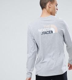 Серый лонгслив The North Face Easy эксклюзивно для ASOS - Серый