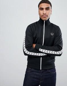 Черная спортивная куртка с лентами Fred Perry Sports Authentic - Черный